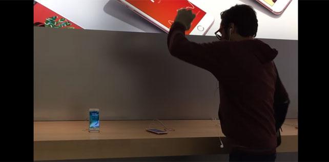 Apple mağazasında terör estiren Fransız kullanıcı