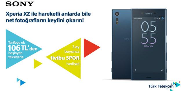 Sony Xperia XZ Türk Telekom mağazalarında