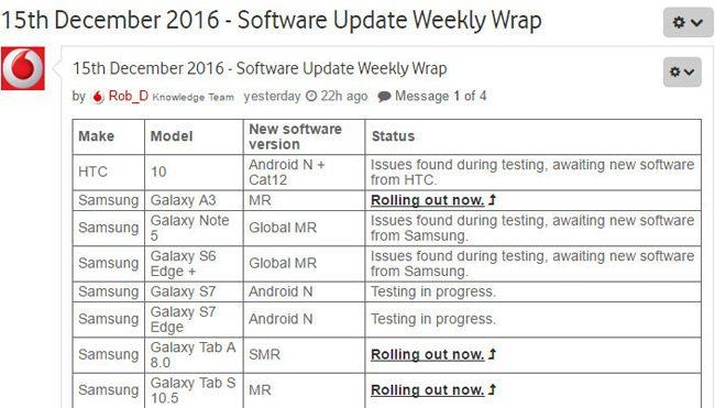 Galaxy S7 Android Nougat güncellemesi sunuluyor