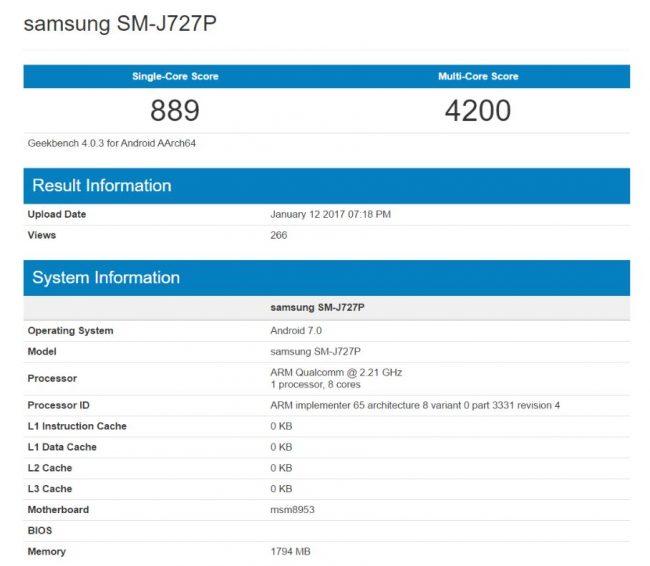 Galaxy J7 (2017) özellikleri