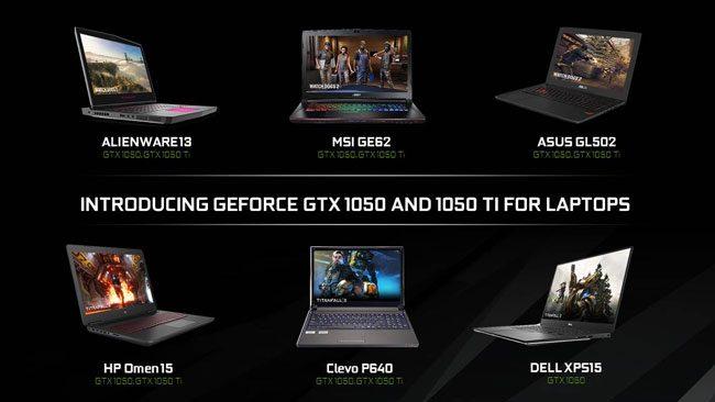 NVIDIA GeForce GTX 1050 ve GTX 1050 Ti Pascal notebook'lar tanıtıldı
