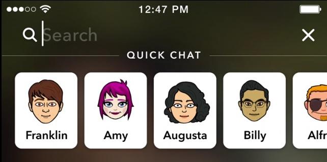 Snapchat yeni arayüz