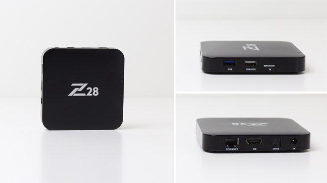 Z28 TV Box inceleme - Android 7.1 4K HDR TV kutusu - Tasarım
