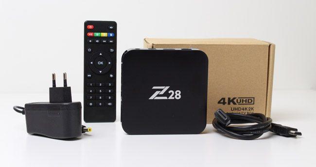 Z28 TV Box inceleme - Android 7.1 4K HDR TV kutusu - Kutu İçeriği