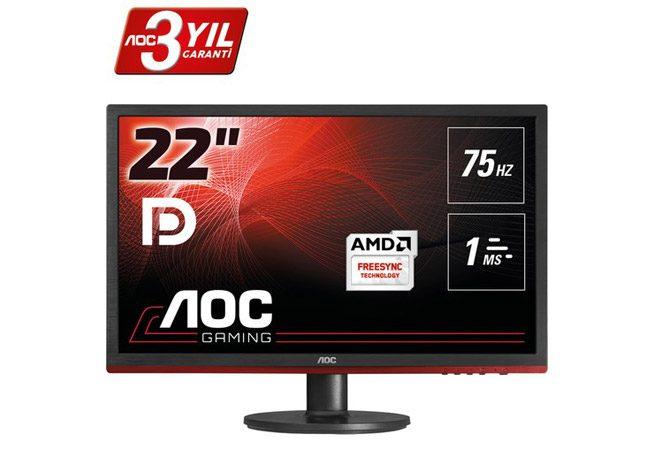 "500- 800 tl en iyi oyun monitörü AOC G2260VWQ6 21.5"" 75 Hz 1ms FreeSync"