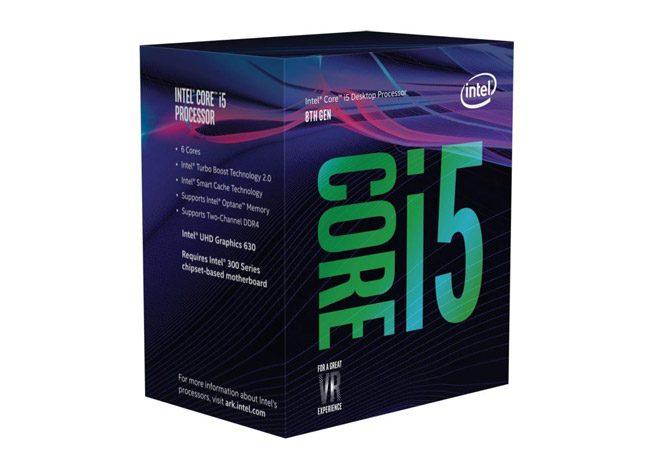 İşlemci: Intel Core i5 8400 2.8GHz 9MB Cache LGA 1151 Coffee Lake