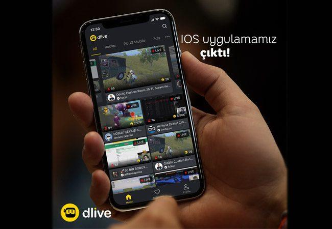 DLive canlı yayın uygulaması şimdi App Store'da!