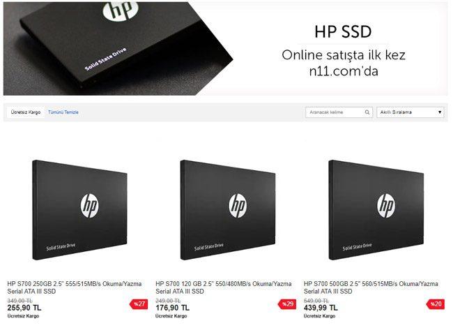HP SSD serisi
