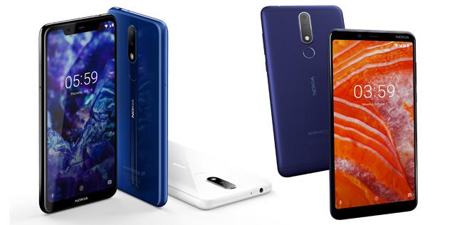Nokia 5.1 Plus ve Nokia 3.1 Plus satışa çıkıyor