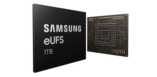 Samsung, akıllı telefonlara terabyte boyutunda depolama alanı getiriyor