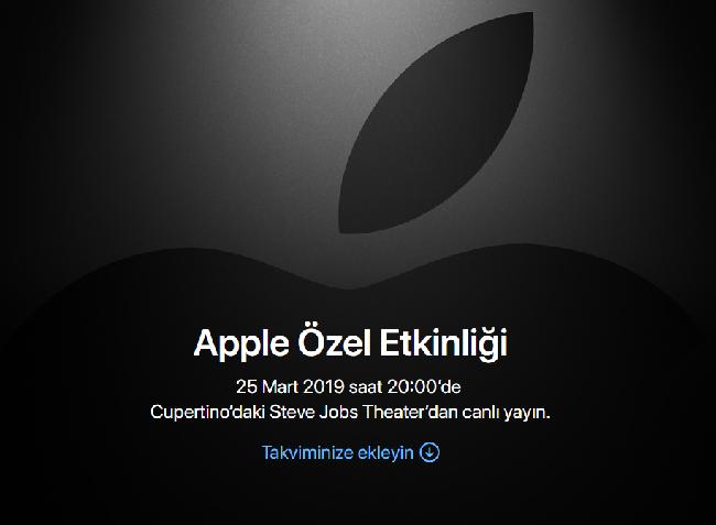 25 mart apple özel etkinliği