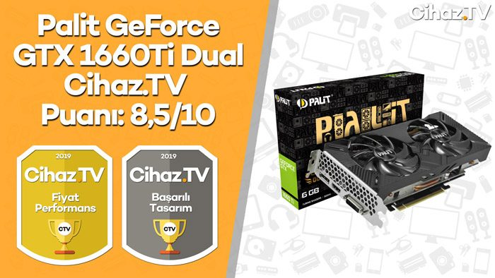 Palit GeForce GTX 1660 Ti Dual İnceleme (Video)
