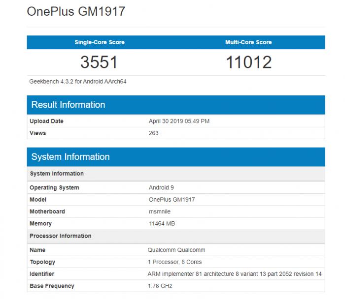 OnePlus 7 Pro 12 GB RAM ile Gelebilir