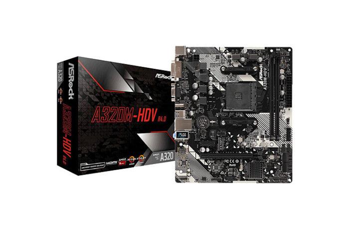 ASRock A320M-HDVR4 Socket AM4, DDR4 3200MHz+(OC), Ultra M.2, USB 3.1 Gen1, HDMI, DVI, VGA mATX Anakart (335 TL)