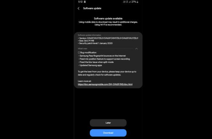Galaxy S9 Android 10 OneUI 2.0 beta 3 Güncellemesi Aldı