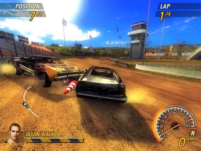 Düşük Sistem Gereksinimi İsteyen En İyi Yarış Oyunları Flatout 2 (2006) Minimum Sistem Gereksinimleri