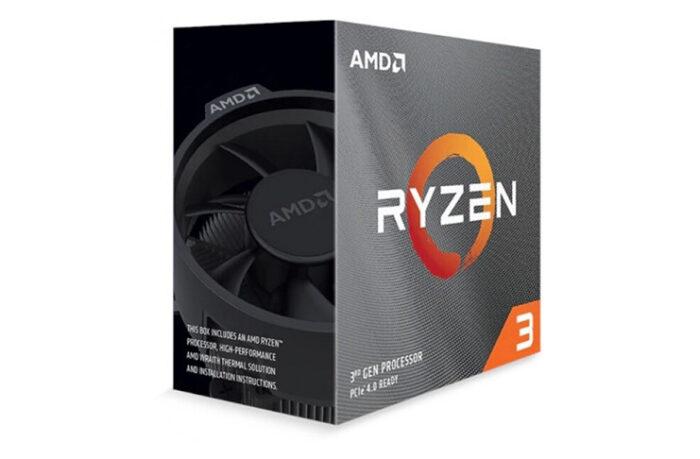 AMD Ryzen 3 3100 4 çekirdek 8 Thread 3,6 GHz / 3,9 GHZ 16MB L3 ön bellek işlemci